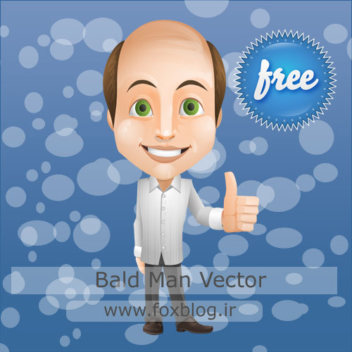bald-man-vector-(www.foxblog.ir)