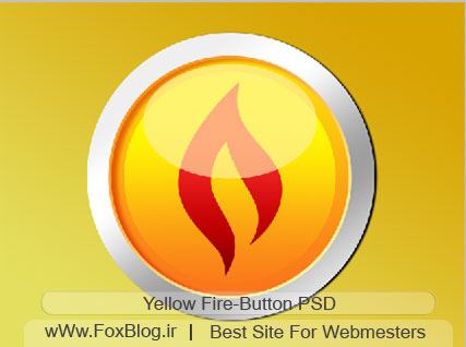 yellow-fire-button-psd(www.foxblog.ir)